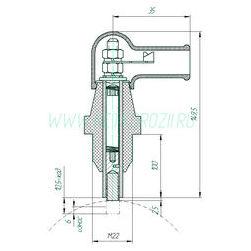 Щеткодержатель ЭМЩ-2А-100/М22, М22x1,5x100
